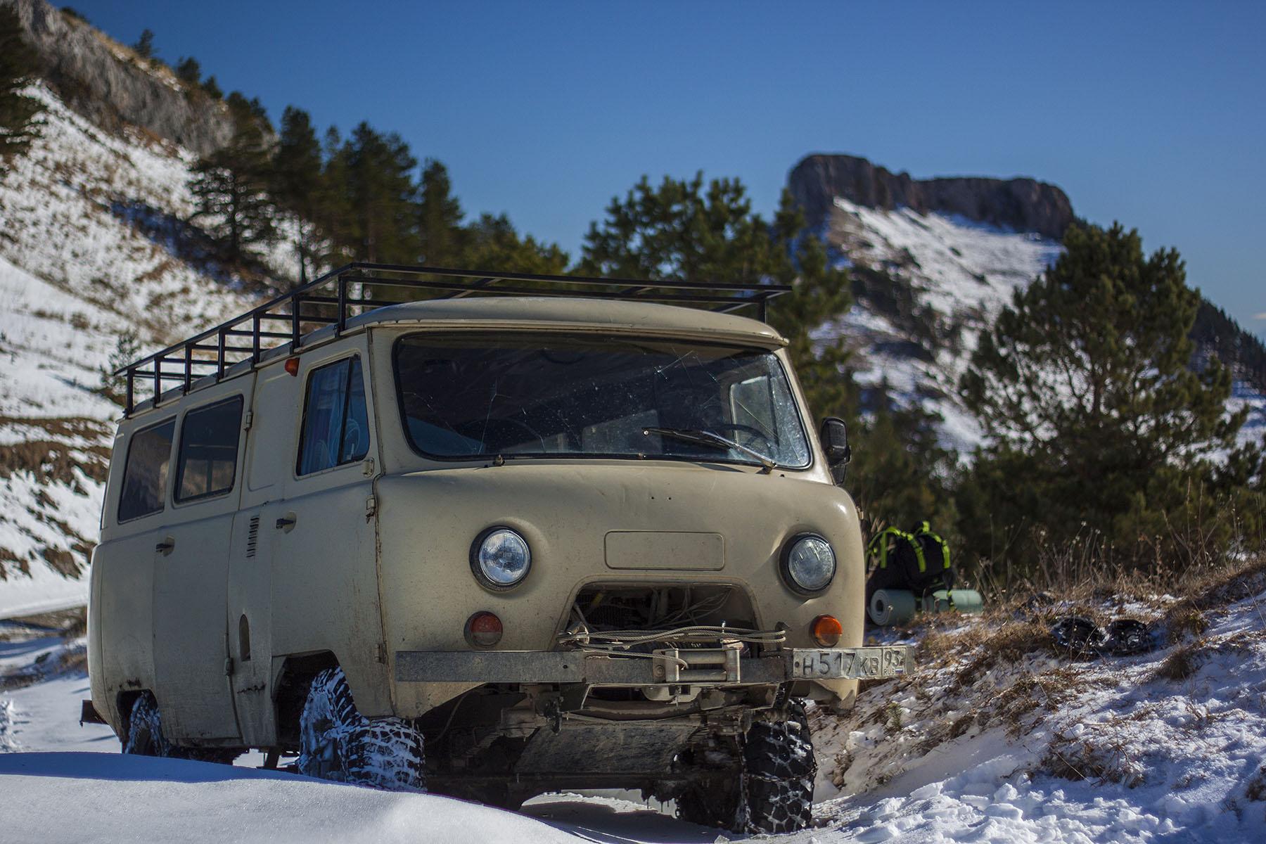 Заброска Бамбаки снег