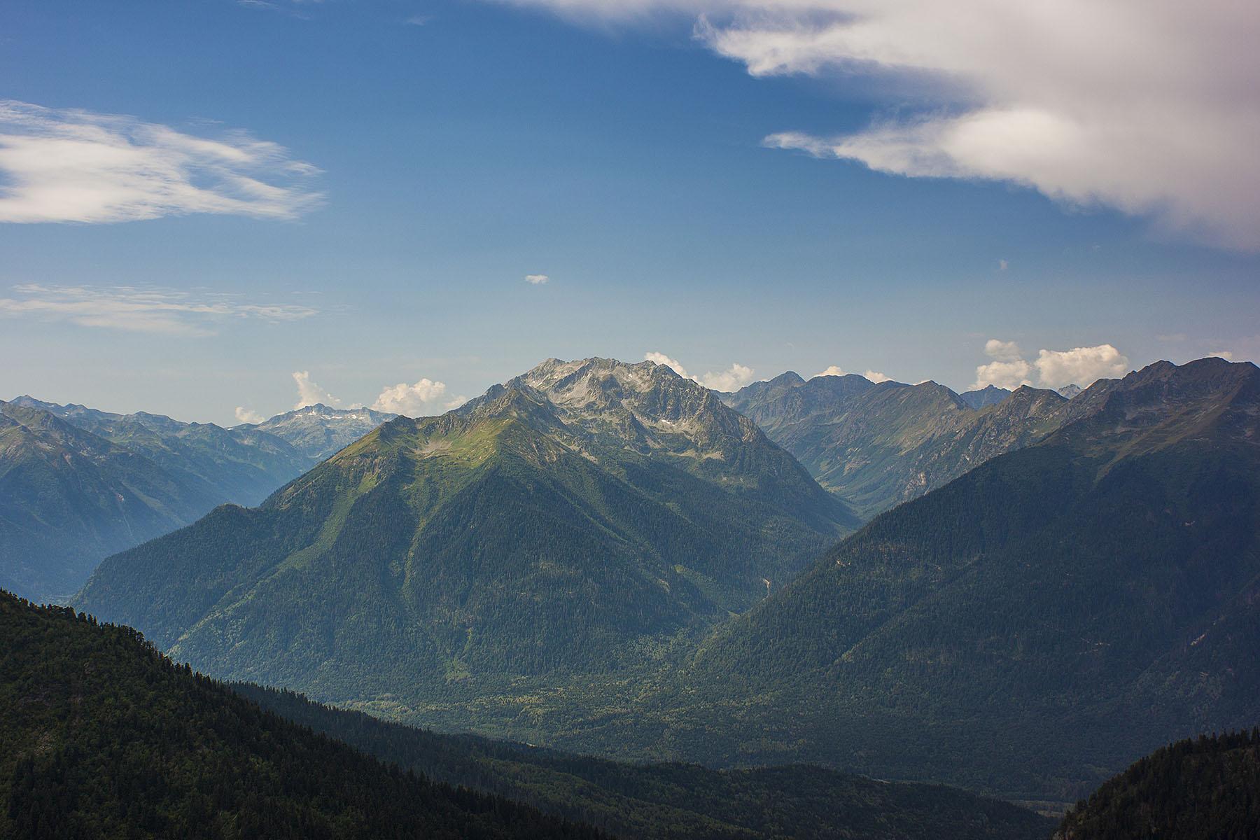 Долина Большой Лабы Загеданский хребет