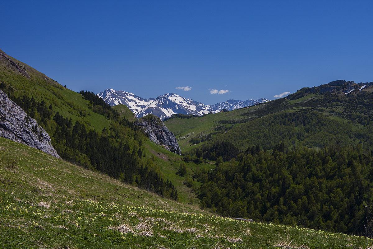 Вид с перевала на гору Алоус