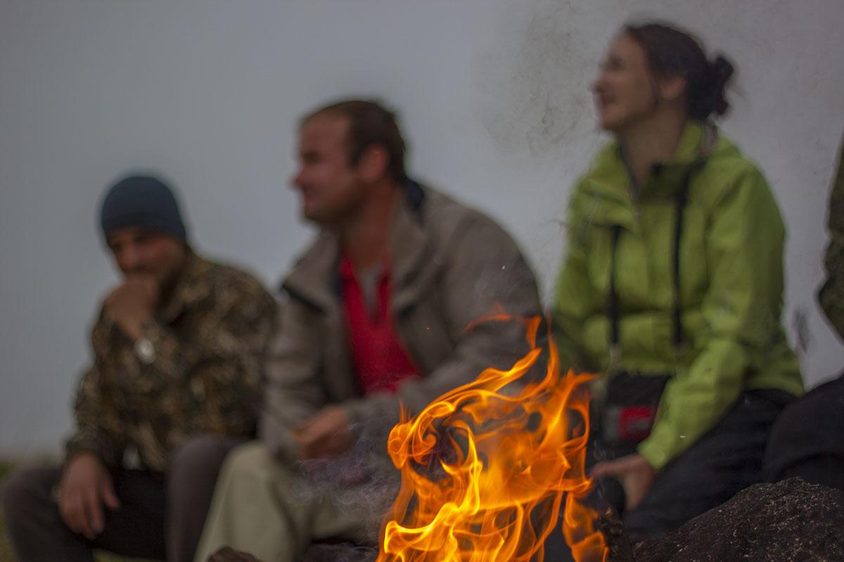 Костер настояние горы Большой Тхач