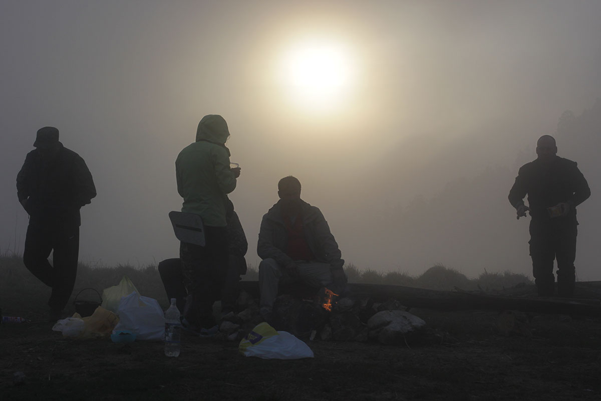 Туман на горе Большой Тхач