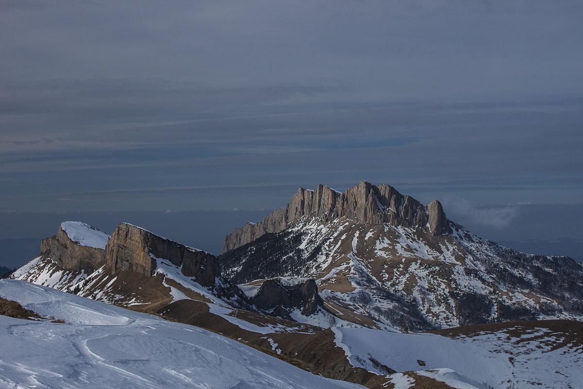гора Большой Тхач зимой